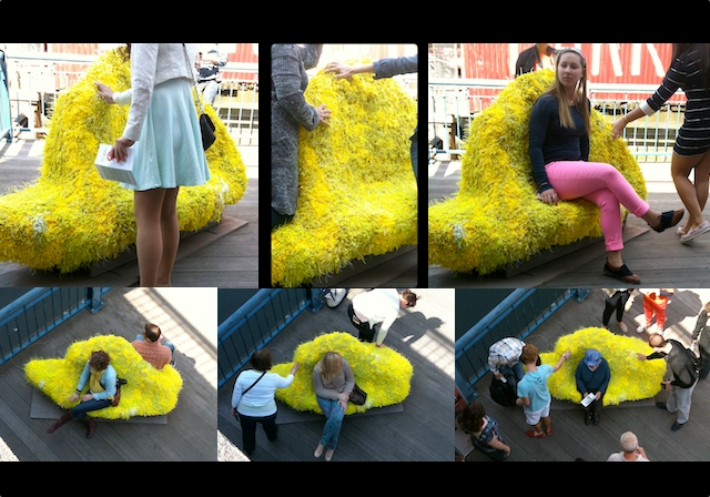 **KNOT bench-site views:PILLOWCulture:Design Museum Boston:Street Seats